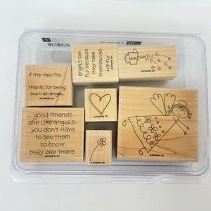 Stampin Up If The Halo Fits Wood Stamps Set